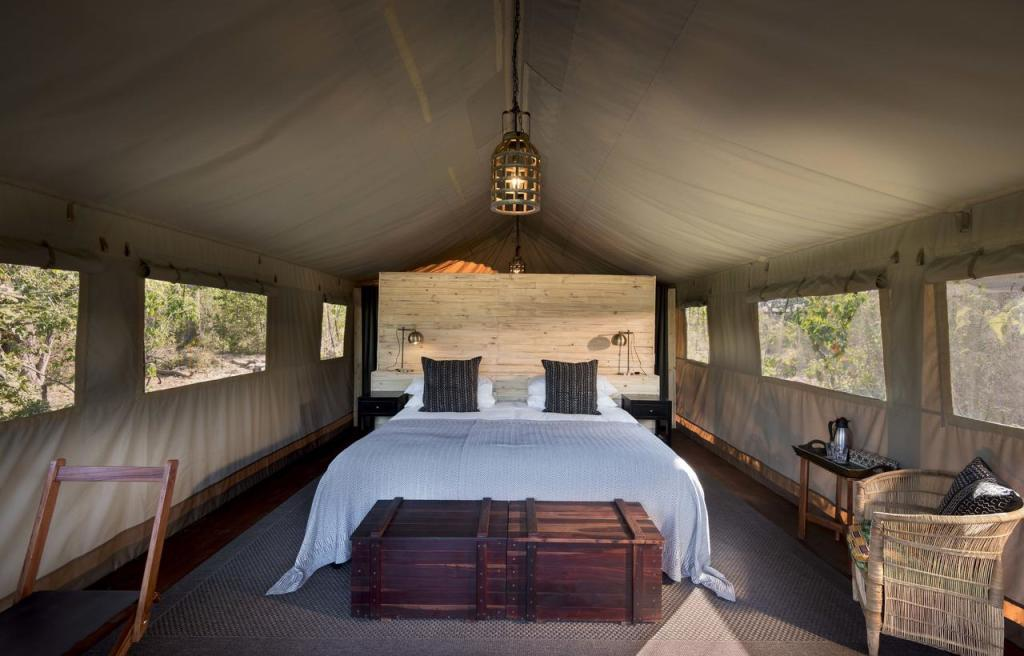 Khwai Tented Camp rooms.