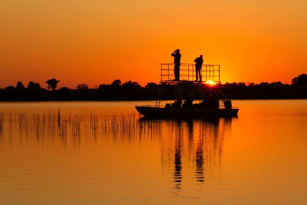Kwando Safaris Kwara boat at sunset_preview