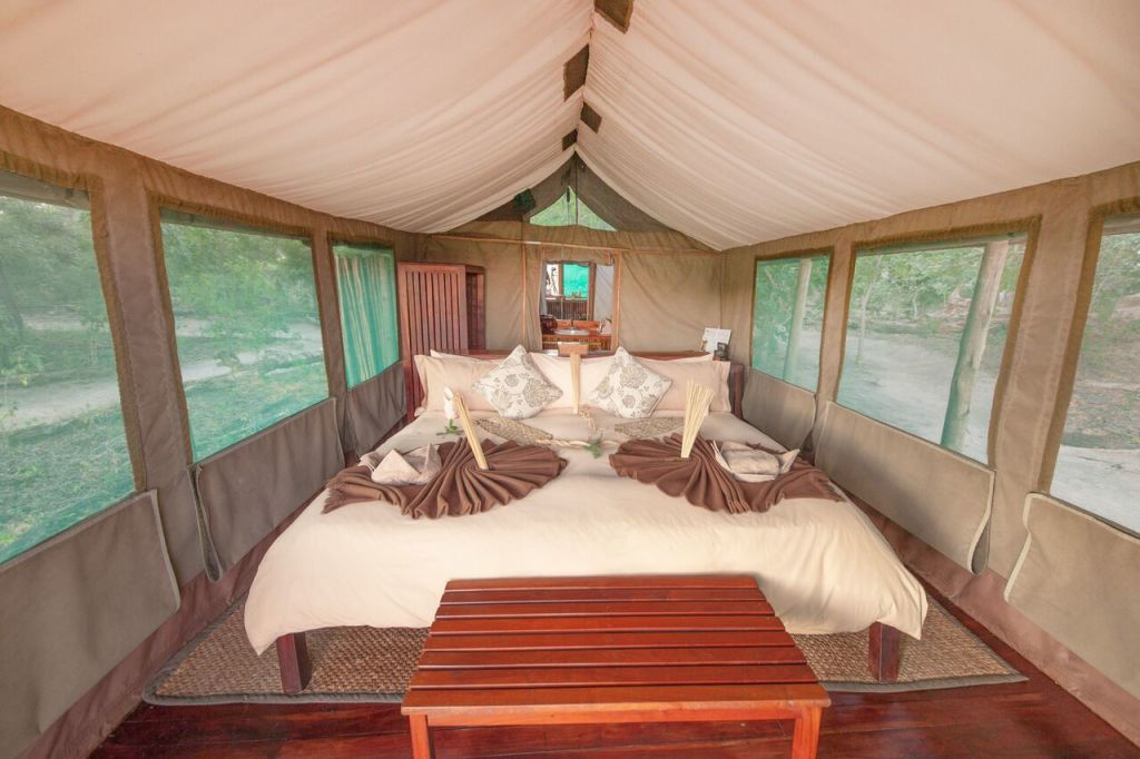 Kwando Safaris Kwara tent inside. ©Kwando Safaris