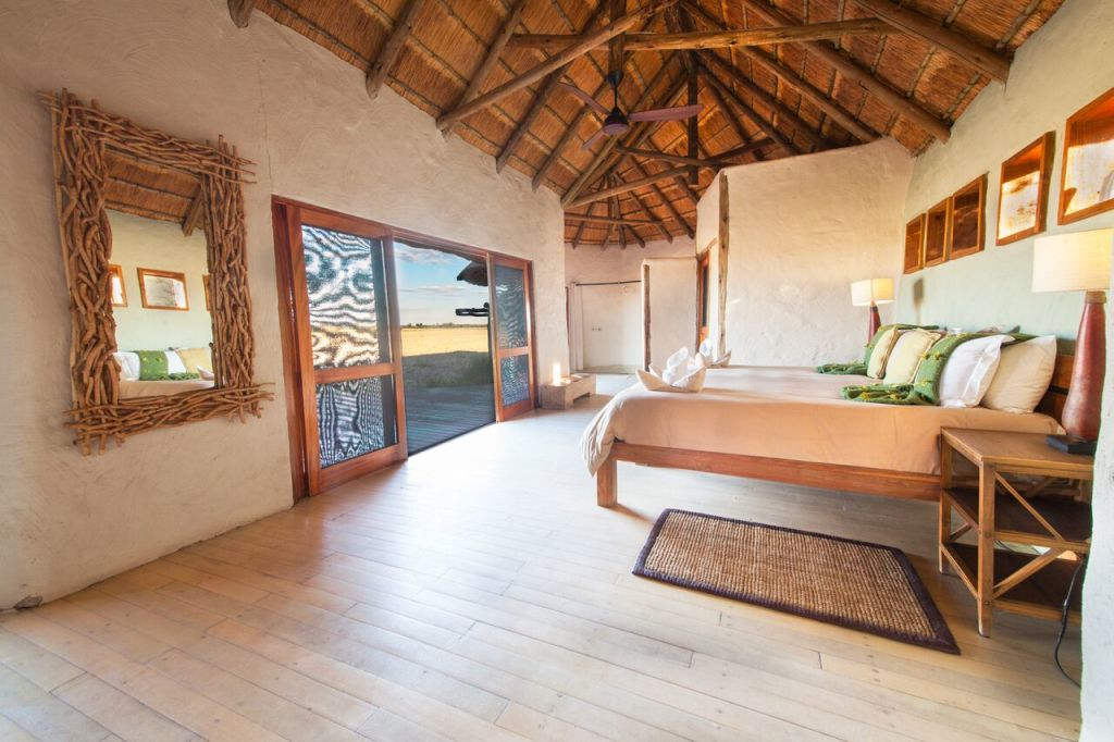 Kwando Safaris Nxai Pan room inside with view_preview