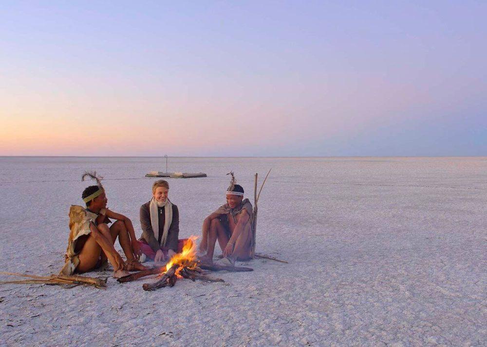 Liquid Giraffe, Kalahari Safari, Walking with Bushmen, Cultural Safari Experience