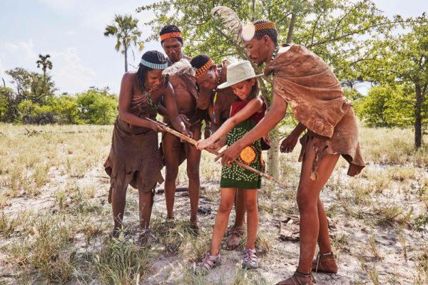 Child on bushman experience